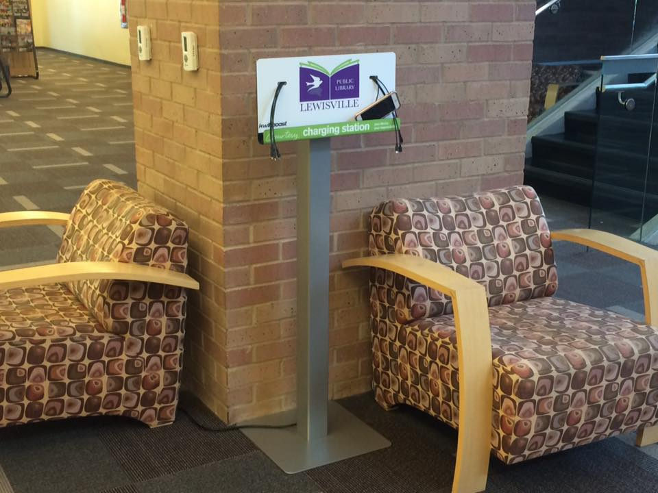 library charging station